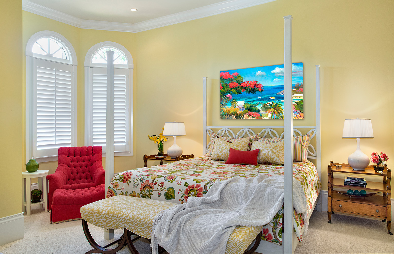Bedroom with Painting
